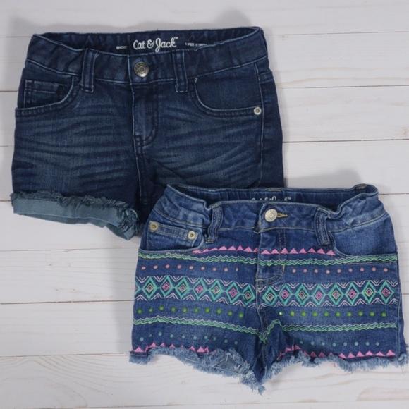 Cat & Jack Other - Cat & Jack Girls Denim Shorts Size XS 4 / 5